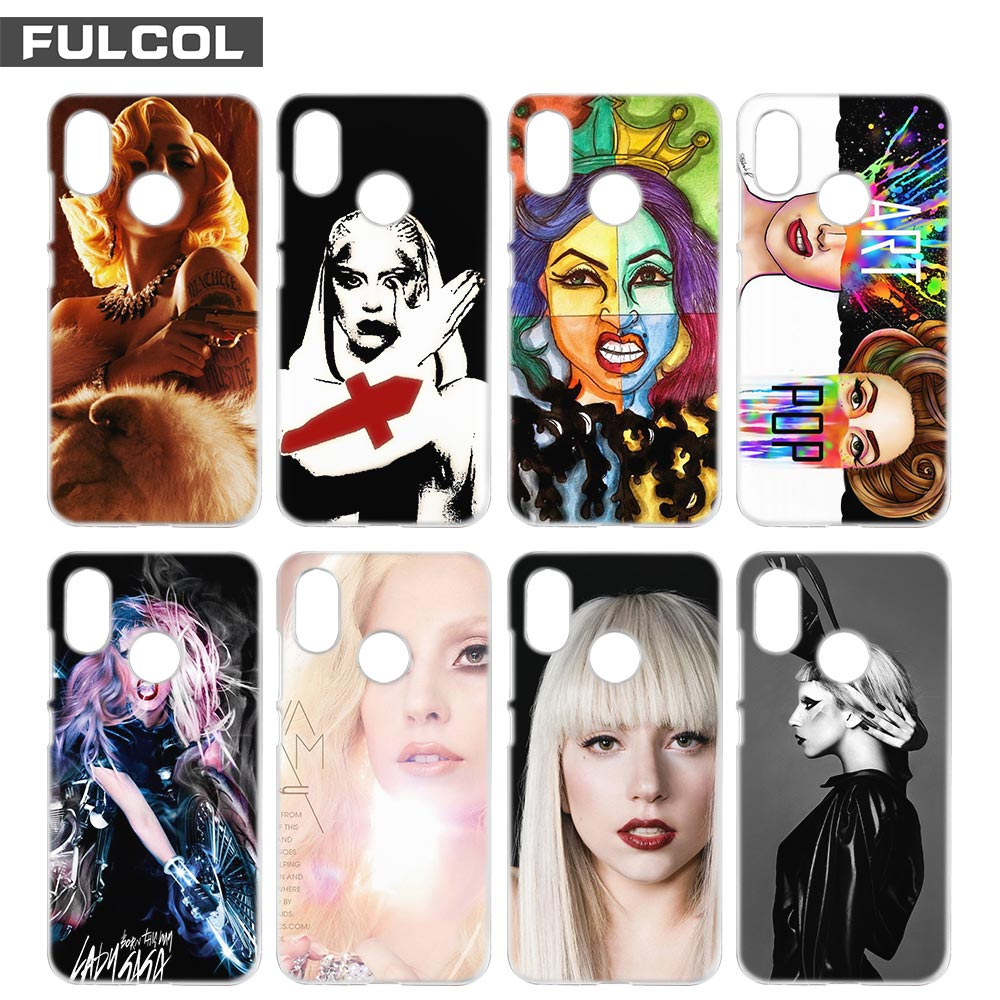 Fulcol lady gaga Fashion Shell case cover para Xiaomi Redmi Note 3 4 4X 5 Puls 4A 5A 4 Pro
