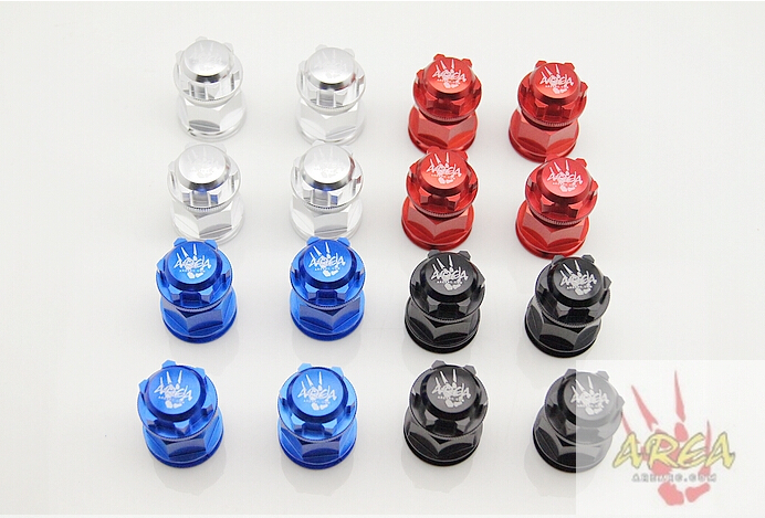 Area Racing Extend Axle and Wheel Nuts FOR LOSI 5IVE-T 4PCS fid rear axle c block for losi 5ive t mini wrc