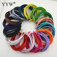 10pcs/lot Plain Solid 10MM Satin Fabric Covered Resin Hairbands Plastic Headband Elastic Hair Bands Accessories for Adult Kids