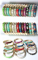 Wholesale10pcs Cute Chinese Handmade Cloisonne Enamel Dolphin Bracelet Bangle