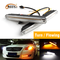 OKEEN 1pair LED DRL Cars Daytime Running Light Waterproof COB White Color Day Light Yellow Turning