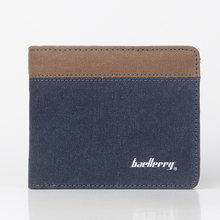 Hot Sale Fashion Men Wallets New Canvas Design Quality Blue Gray Color Casual Short Style Card Holder Purse Wallet Free Shipping(China)