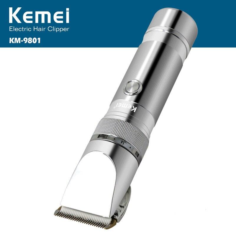 Kemei Rechargeable électrique coupe de cheveux Machine pour homme professionnel étanche cheveux tondeuse sans fil électrique tondeuse KM-9801