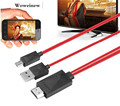 Woweinew Nice MHL Micro USB to HDMI 1080P HDTV Cable Adapter for Samsung Galaxy S4 Free shipping