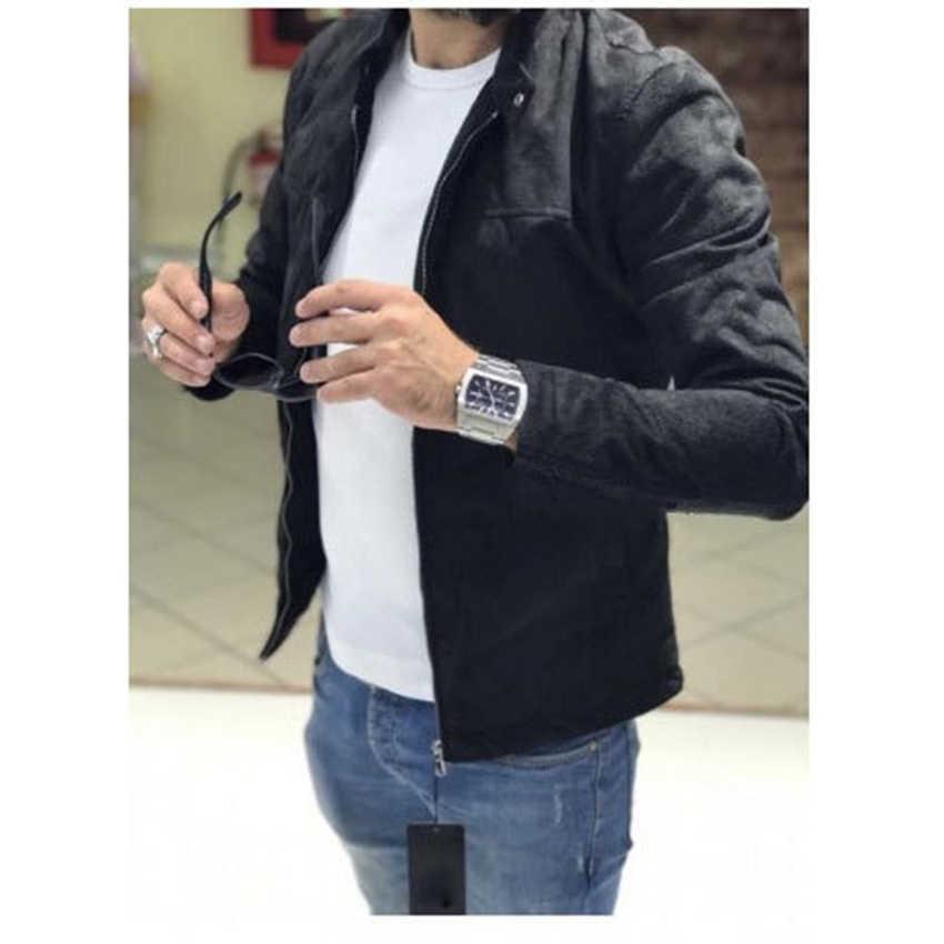 Baru Tiba Gaya Jaket Pria Mantel Streetwear Pria Jaket Pria Lengan Panjang Mantel Lebih Tahan Dr Solid Berdiri Kerah Pakaian Jaket