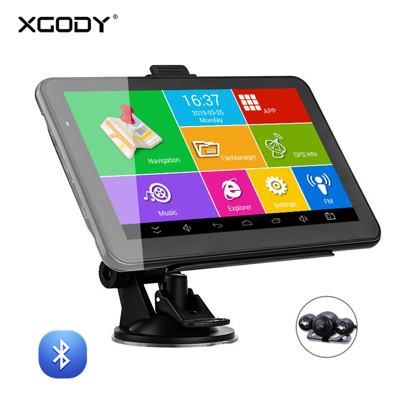 XGODY Truck Navigator Tablet Europe-Map Android Car Gps Wifi Bluetooth American 16GB
