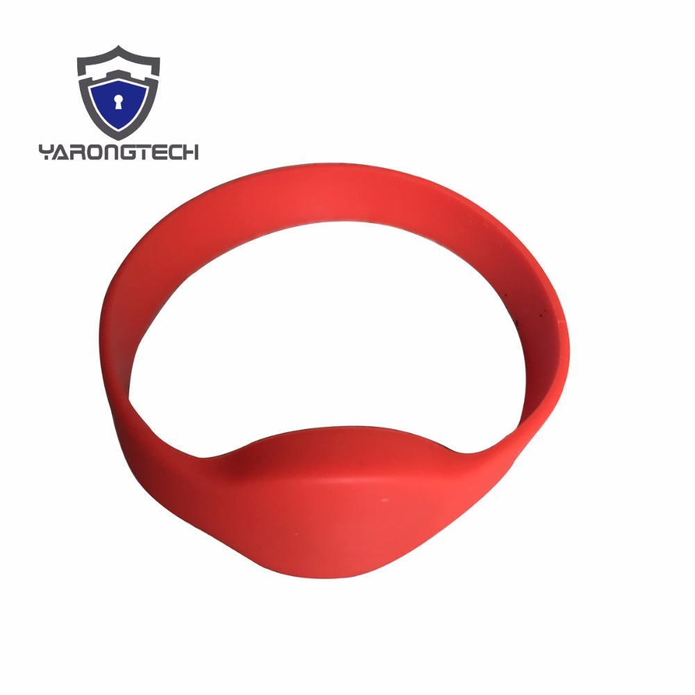 10 PCS 125KHZ EM4100 ISO Red ID Wristband Silicone Rfid Bracelet For Access Control