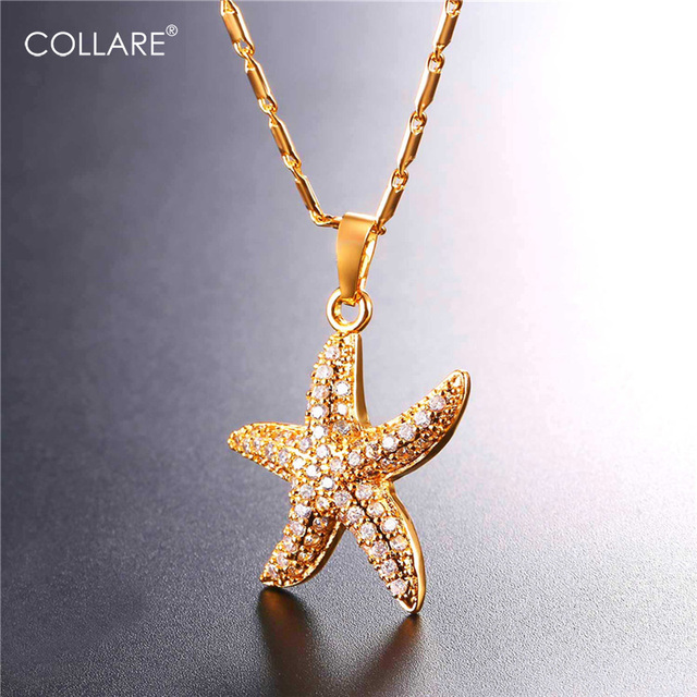 Aliexpress buy collare starfish pendant bridesmaid jewelry collare starfish pendant bridesmaid jewelry goldsilver color crystal cubic zirconia beach sealife necklace women aloadofball Choice Image