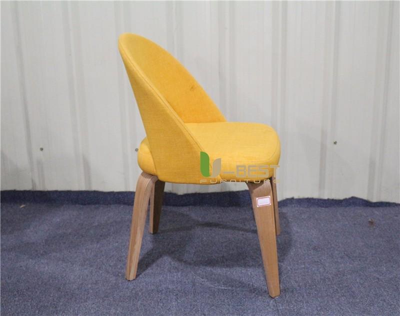 Saarinen Executive mid century side dining chair with wood leg (3)