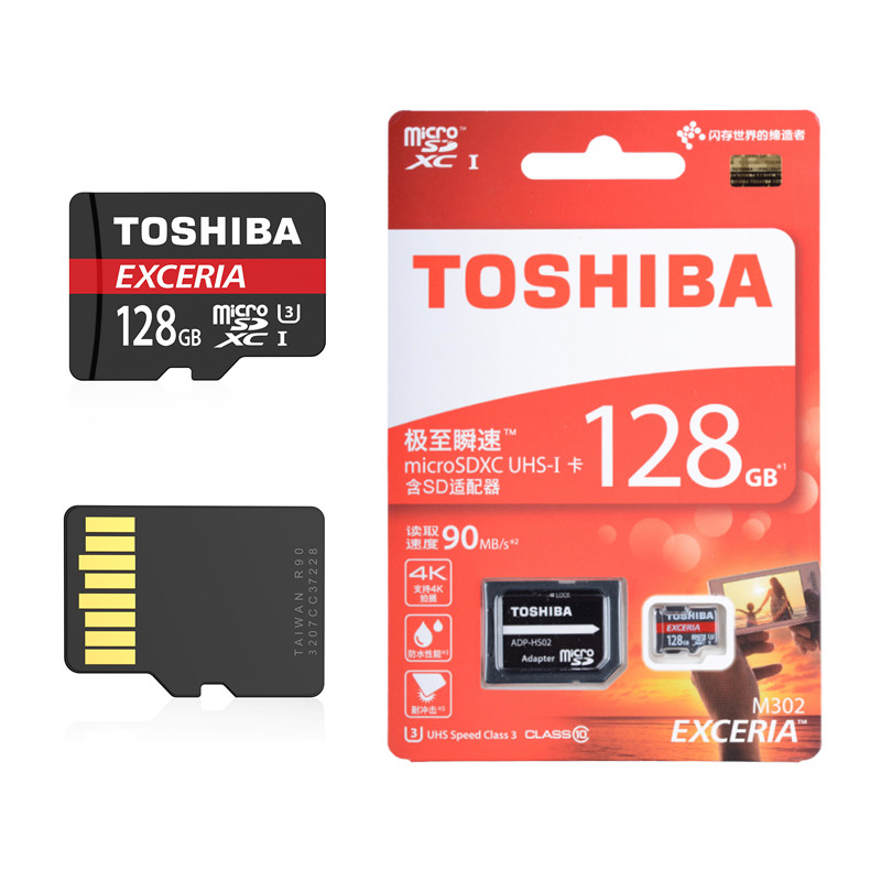 05a4608ef TOSHIBA Micro SD Card 32GB Class 10 16GB 64GB 128GB Class10 UHS 1 U3 90MB S  633X Memory Card Flash Memory Microsd for Smartphone-in Memory Cards from  ...