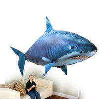 Remote Control Shark Toys Air Swimming Fish Infrared RC Flying Air Balloons Fish Kids Toys Gifts Party Decoration