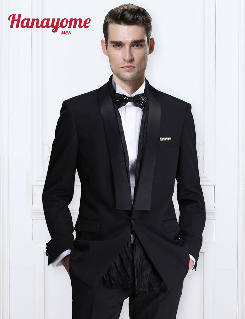 Men Black Gold Tuxedo Men's New Arrival 2pc Fashion Stage Wear Young Blazer Tuxedo Tailcoat Suit & Trousers Mens Stage Wear U104