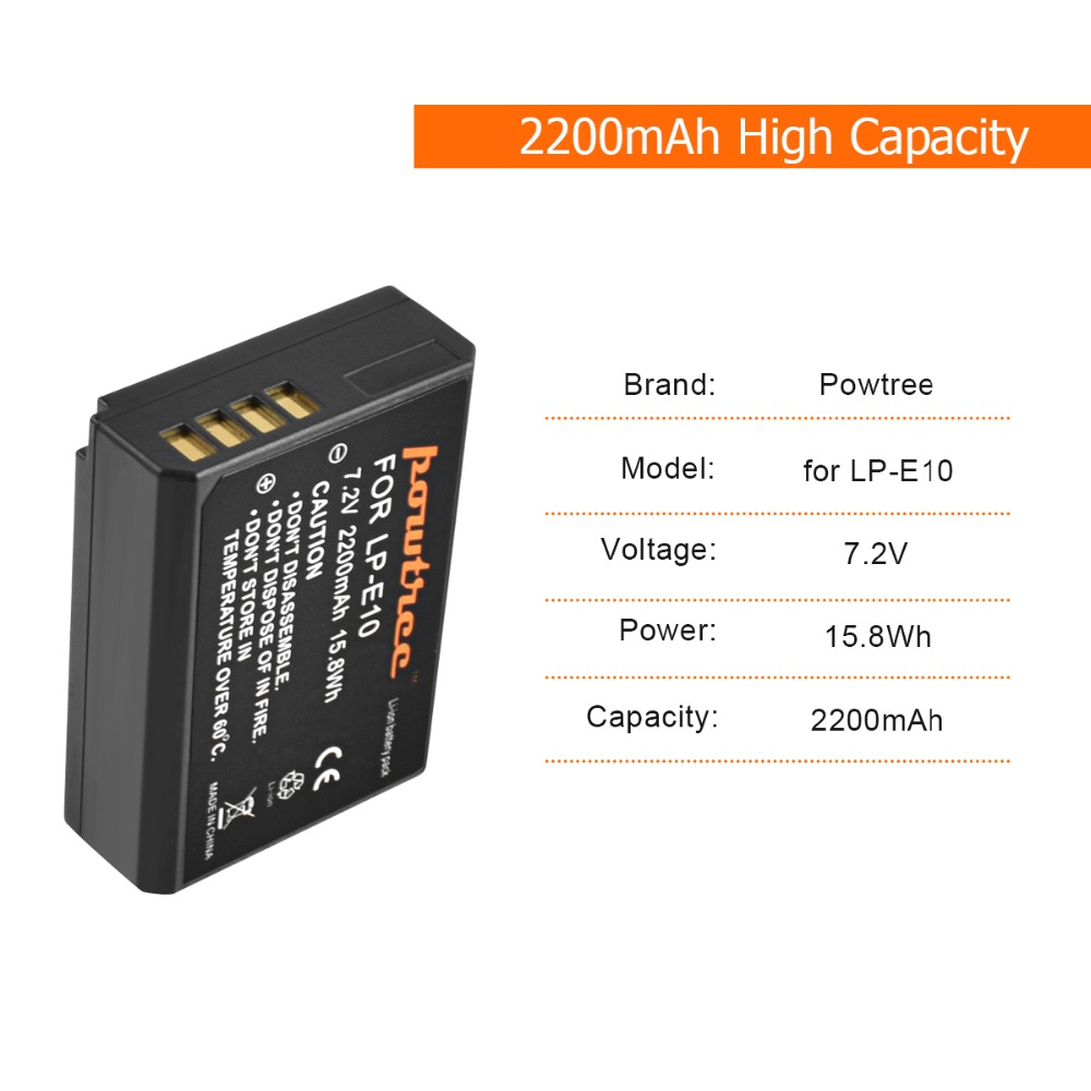 4X LP E10 LPE10 LP E10 Camera Battery Bateria Batterie AKKU LCD Charger for Canon 1100D 1200D 1300D Rebel T3 T5 KISS X50 L15 in Digital Batteries from Consumer Electronics