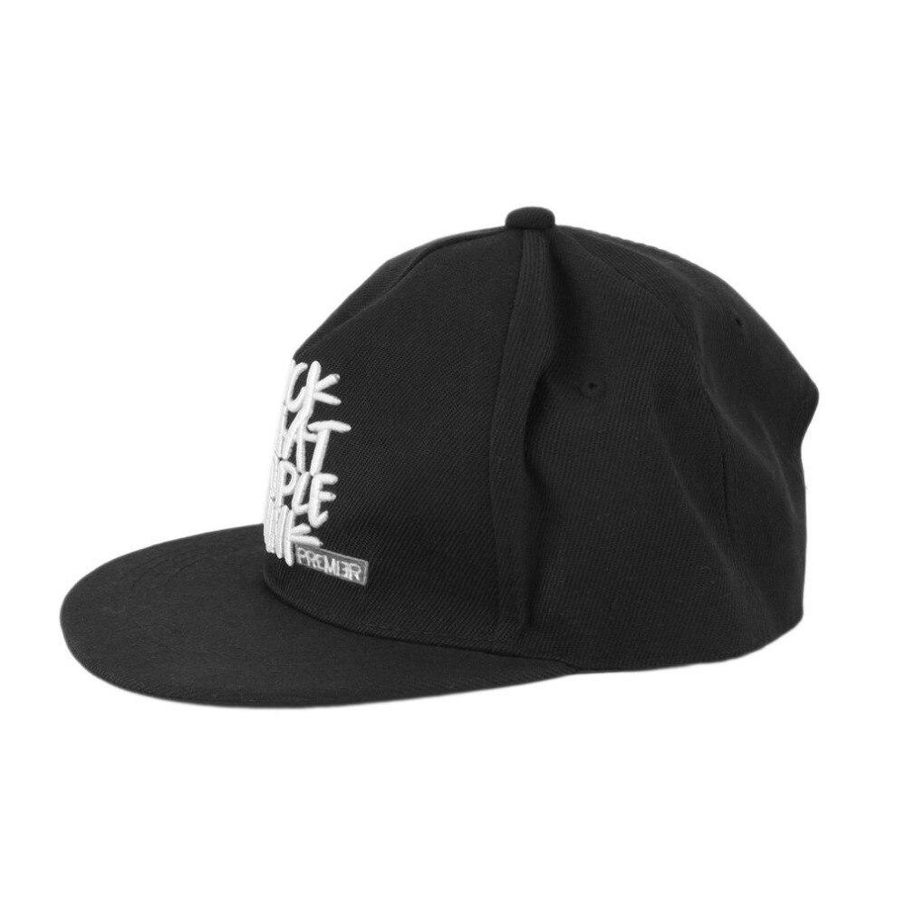 New Unisex Fashion Boy Style Brim Adjustable Baseball Cap Snap Hip-Hop Hat 2016 Hot Sale