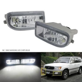 ANGRONG 2x HB4 9006 30W SAMSUNG LED Front Fog Light With LED Bulbs White For Toyota Land Cruiser Amazon 1998-2007 фото