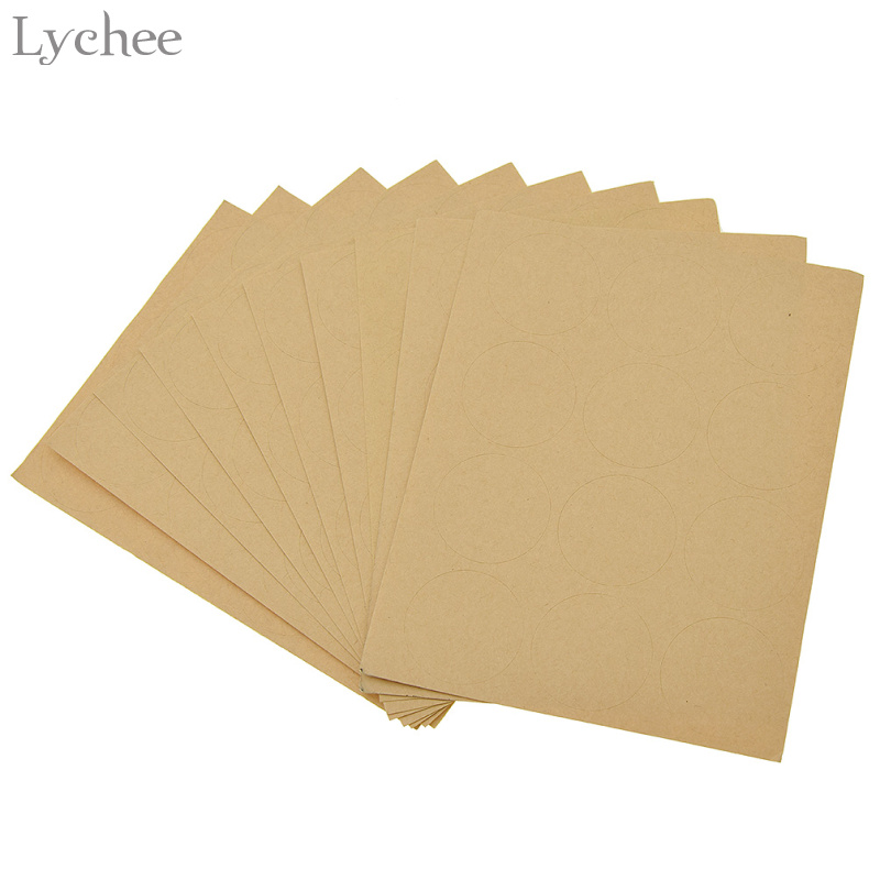 120pcs Round Blank Stickers Kraft Paper Label Envelope Seals Food Label Wedding Party Christmas Decoration