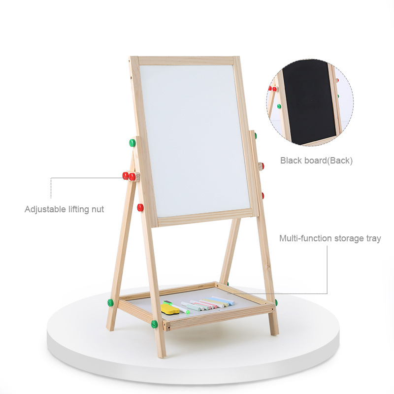 Children/'s Blackboard and Whiteboard Easel Creative Play and Drawing