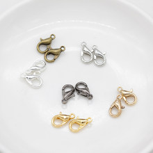 20 pçs ouro prata liga lagosta fecho garra ganchos para pulseira colar corrente & pulseira corrente suprimentos diy acessórios