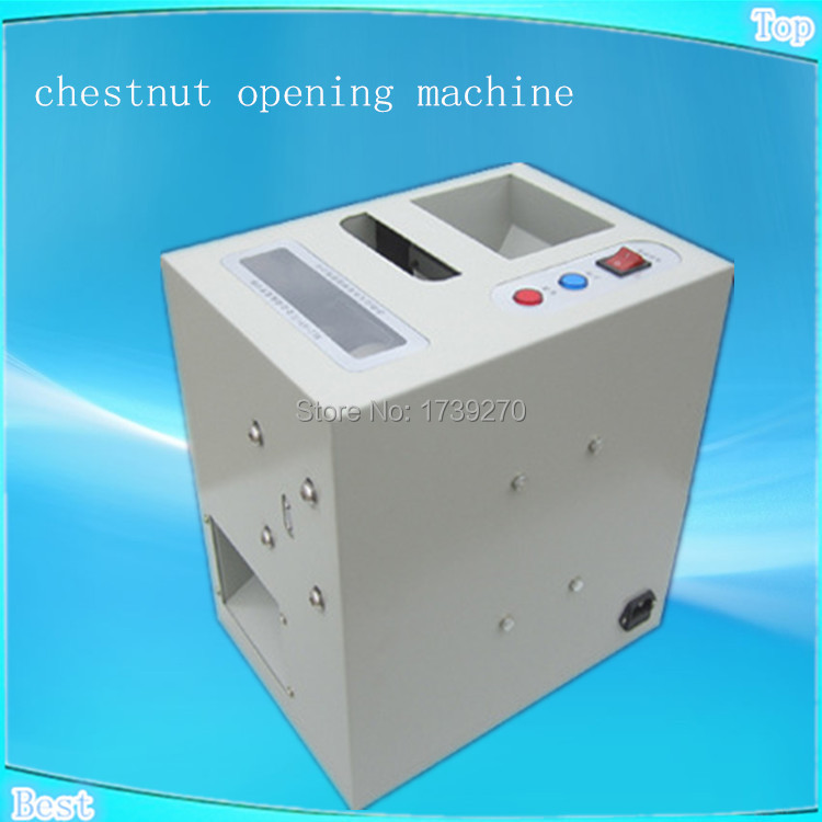 automatic nuts cutting machine,chestnut mouth opening machine,80-100kg/h Output nuts mouth opener chestnut incision machine