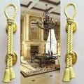 O envio gratuito de 200 MM de alta qualidade da madeira da porta puxa KTV Casa Hotel ouro bronze maçanetas puxa moda vintage grande portão alças