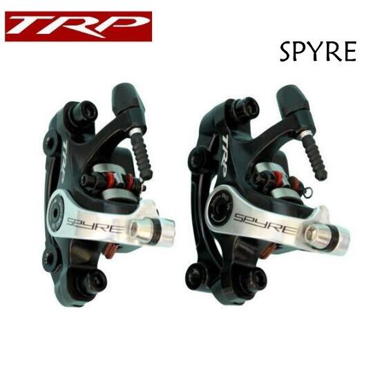 TRP Spyre route vélo vélo Alliage Mécanique frein à disque Set Avant et Arrière Comprennent 160mm Axe rotor