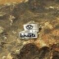 Anel da mão de hamsa, namaste envoltório anel personalizável anel de yoga, mensagem secreta citação jóias personalizado