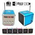 Manos libres estéreo portátil mini super bass altavoz subwoofer amplificador fm radio usb sd micro tf reproductor de mp3 td-v26