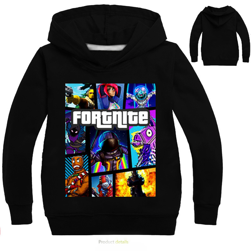 2018 Hot Game Fortnite Hoodies Swearshirts Casual Long Sleeve Outwear Streetwear Pullover 3-14T Boys Girls T-shirt Clothing Gift