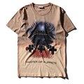 Cementerio manchado de tinta de verano de alta calidad de impresión de La Camiseta negro de los hombres de hip hop rap rock metallica master of puppets camiseta