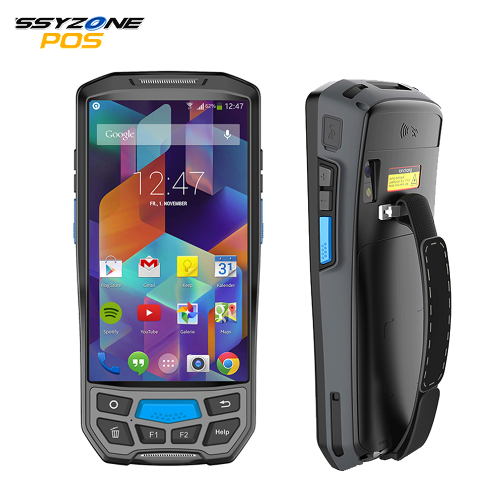 IssyzonePOS Android 7 0 Handheld PDA Wireless WIFI Bluetooth 1D 2D QR Barcod Scanner GPS NFC