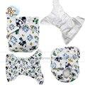 2016 Babyshow Couche Insertos Nappy Liners Merries Pañales de Tela Reutilizables Pañales Fralda Asistente Bebé Impreso Pañal de Tela Minky