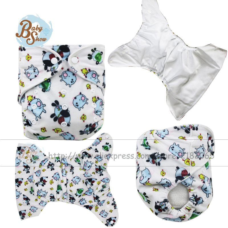 2017 Babyshow Reusable Cloth Diaper Merries Inserts Nappy Liners Couche Baby Wizard Diapers Fralda Printed Minky Cloth Diaper