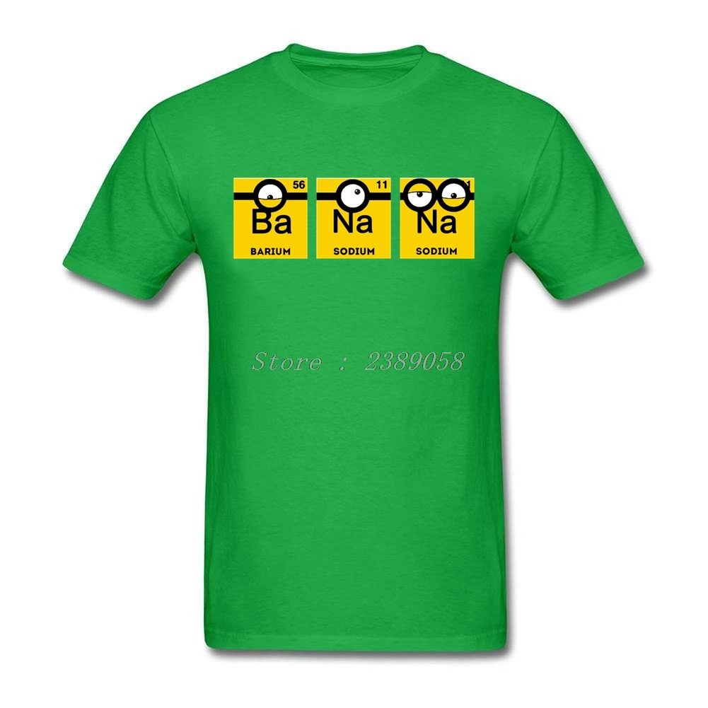 Summer T Shirt Men Unique Short Sleeve Cartoon Yellow Banana Periodic Table  T Shirts Minions Clothing In T Shirts From Menu0027s Clothing U0026 Accessories On  ...