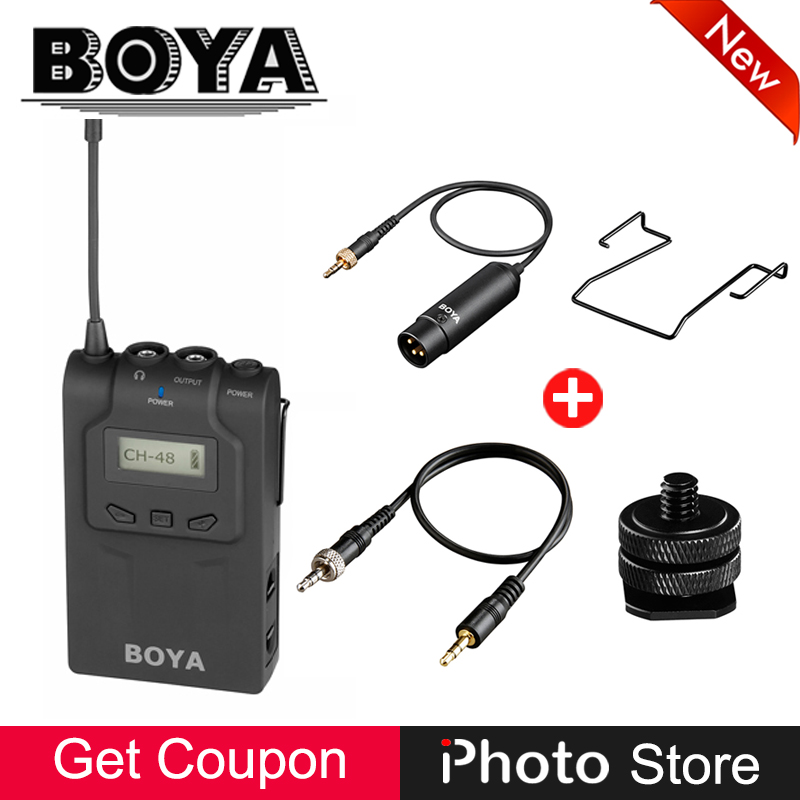BOYA BY-WM6R UHF Wireless Microphone Receiver for Handheld Microphone Transmitter BY-WHM8 BY-WXLR8 for ENG EFP Interview Karaoke mac eng 6 fluency bk