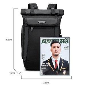 Image 5 - Large Capacity Men Backpacks Waterproof Multifunction 18 19 Inch Laptop Backpack For Teenager Schoolbag Travel Mochilas Bagpack