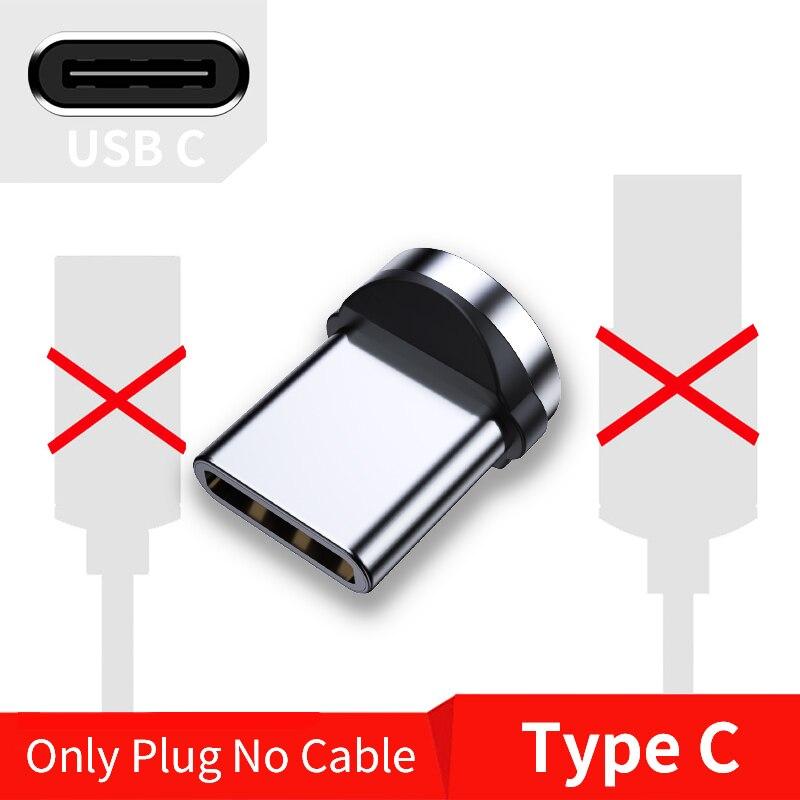 FPU 3 м Магнитный Micro USB кабель для iPhone samsung Android мобильный телефон Быстрая зарядка usb type C кабель магнит зарядное устройство провод шнур - Цвет: Only Type-C Plug