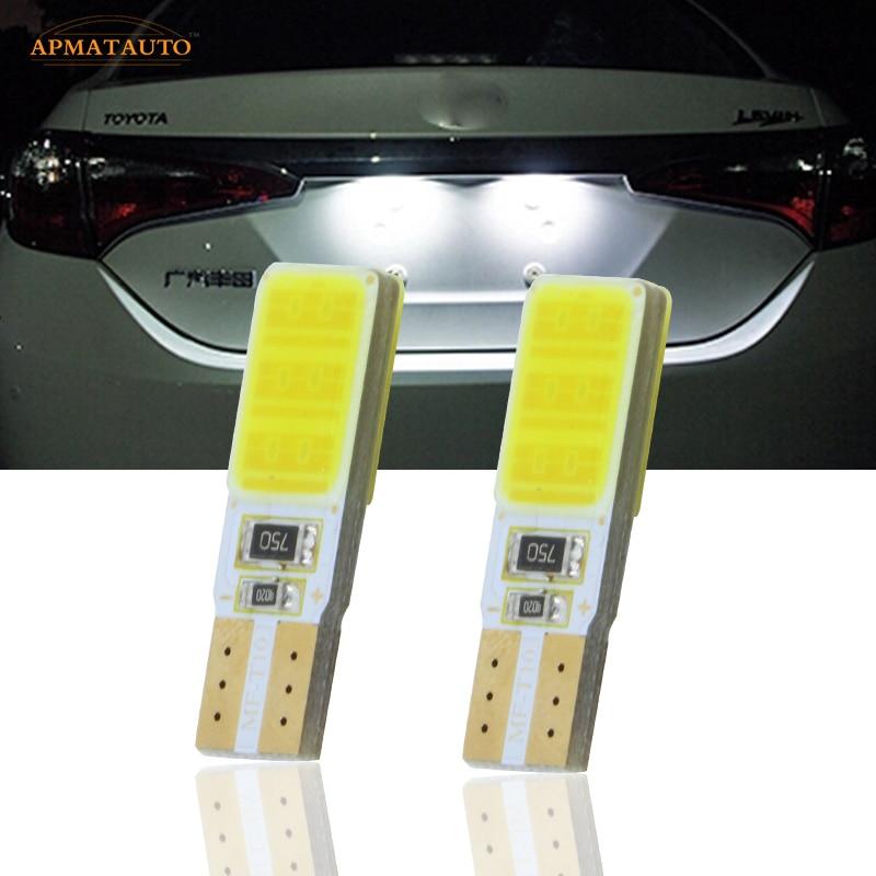 2x T10 W5W License Number Plate Light LED Bulbs Lamp For Toyota RAV4 Prado Highlander Corolla Crown Camry Prius Reiz Vois Yaris