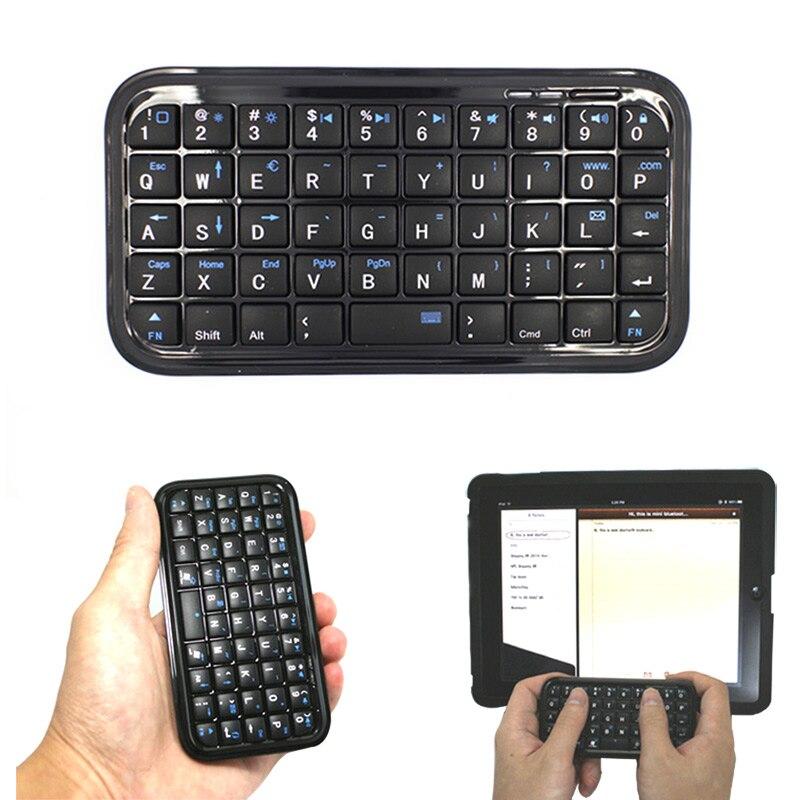Black Ultra Slim Mini Bluetooth 3.0 Keyboard For IPhone 7 Plus Samsung S7 / PS3 / PC EM88