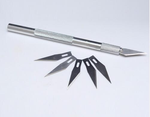 Fém fogantyúval felszerelt szikével késvágó metszet Hobbi + - Kézi szerszámok - Fénykép 3