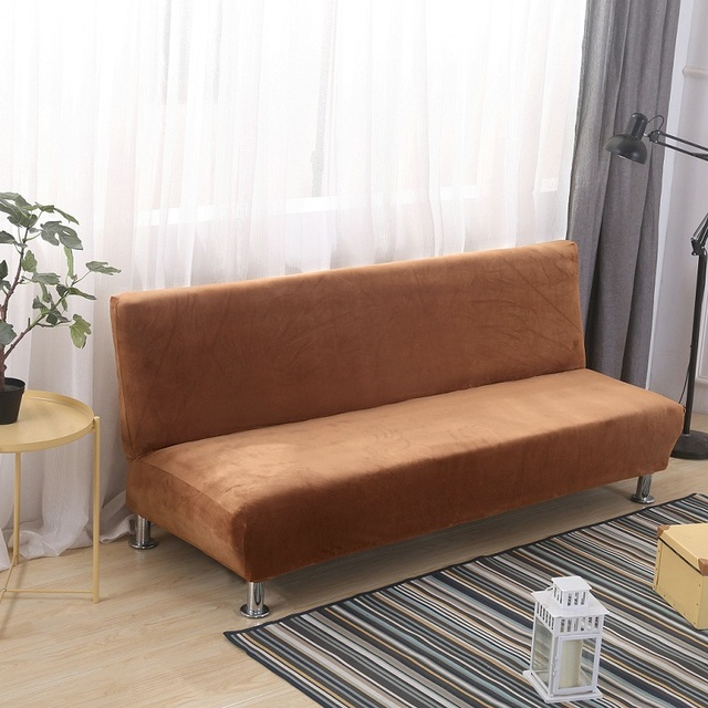 Winter Plush Sofa Bed Cover All Inclusive Slipcover For Sofa Without  Armrest No Handrail Sofa