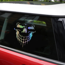 Tancredy 3D Skull Stickers 15.9*17.7cm Car Stickers & Decals Car Styling Head Rear Windshield Stickers Car Door Window Stickers