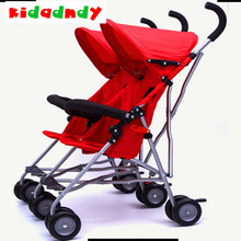 Twin stroller seat light portable double children's cart side by side the four seasons are available LMY0188