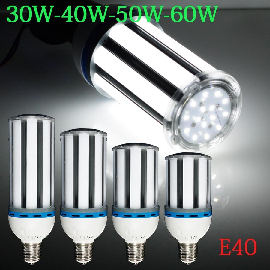 2015 New Brightness 30W/40W/50W/60W E40 AC85-265V White/ Warm White SMD Corn Bulb LED Co ...