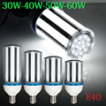 2015 New Brightness 30W/40W/50W/60W E40 AC85-265V White/ Warm White SMD Corn Bulb LED Corn Light  LED Buld Spotlight Lamps