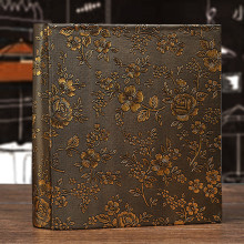 6 Inch Photo Album Leather floral Storage Box 100 Sheets Insert Page Lovers Children Book Memory Wedding DIY Gifts foto