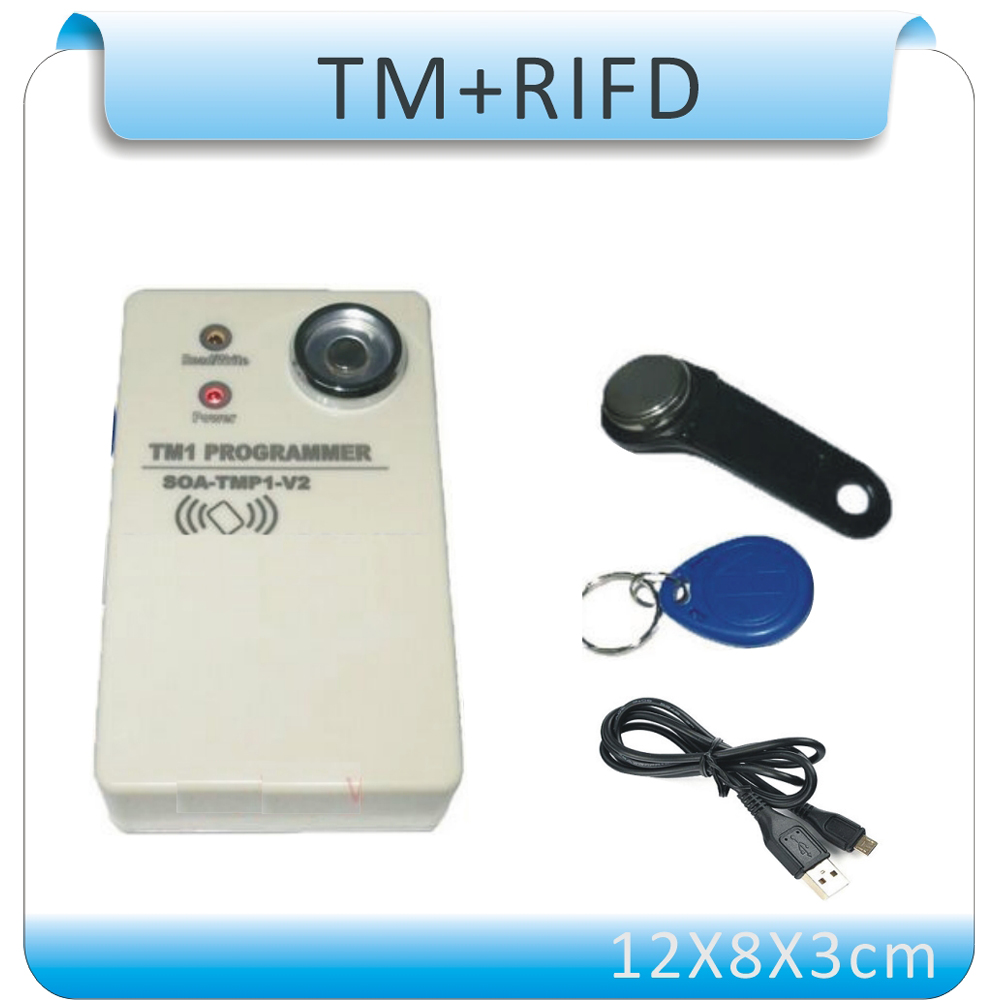 ФОТО Free shipping 2 in 1 easy using Button copier TM card duplicator 125Khz ID  card copier with USB cable DC5V /10pcs tm card