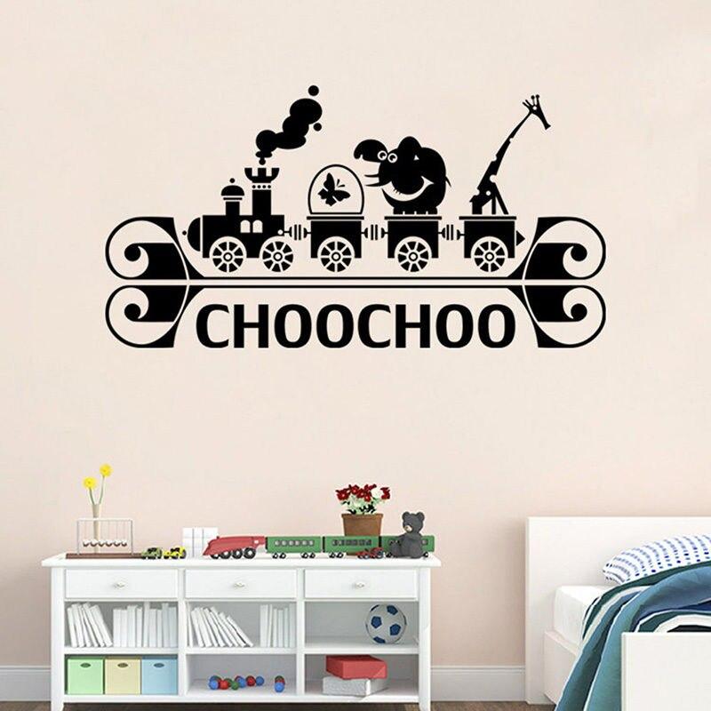Винил Поезд игры детский сад детская комната diy Наклейки на стену Гостиная Спальня Главная Декоративные росписи обои