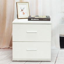 FCH 2 Drawers Bedside Nightstand Cabinet Night Table End Side Tables Chest Nightstand for Bedroom Home Storage White - US Stock(China)