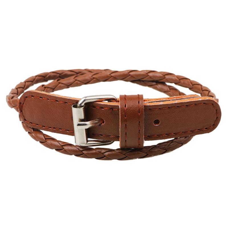 Vintage Bracelet Men Multilayer Leather Men Bracelet Fashion Braided Handmade Star Rope Wrap Bracelets & Bangles pulsera mascul