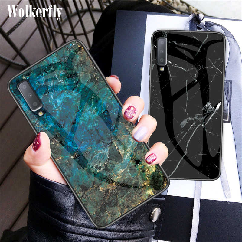 Marble Glass Case For Samsung Galaxy S10E S9 S8 S10 Plus M10 M20 A10 A20 A30 A40 A50 A60 A70 A7 J4 J6 Plus J8 2018 Note 9 8 Case